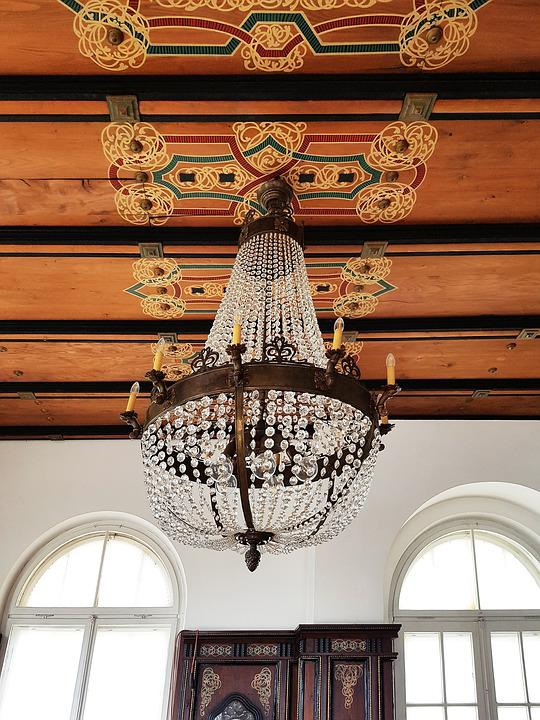 Home, Art Nouveau, Music Room, Chandelier, Glass