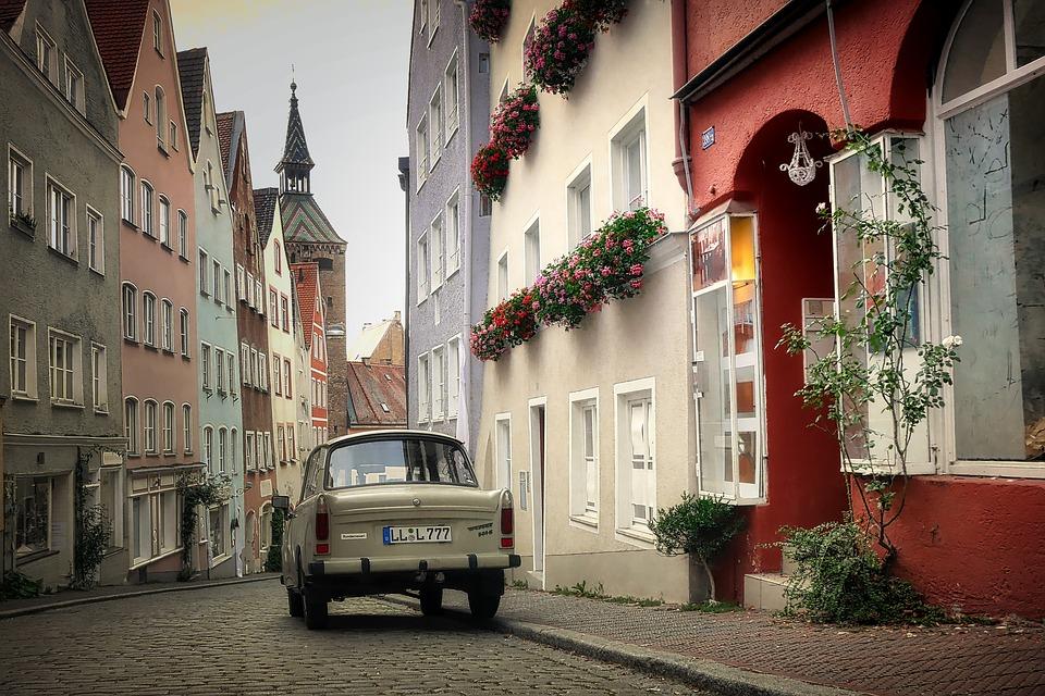 Road, Architecture, City, Home, Landsberg, Trabi, Auto