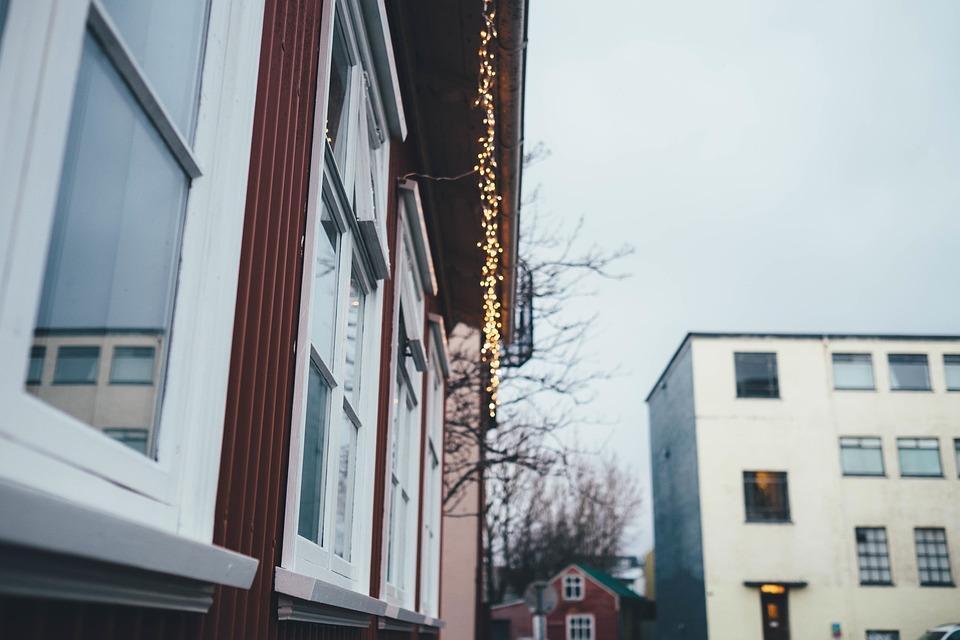 house home windows christmas lights festive