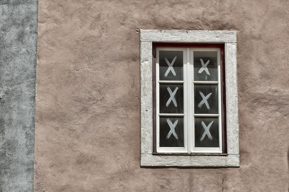 Window, Wall, Home, Building, Crosses, Three Online