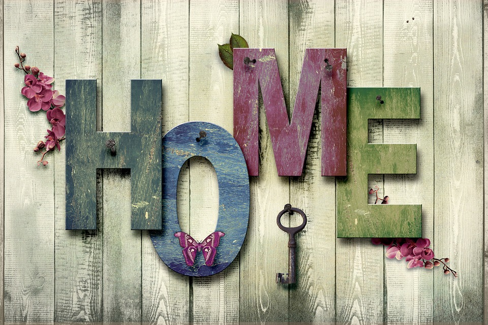 Home, At Home, Decoration, Wood, Canvas, Art