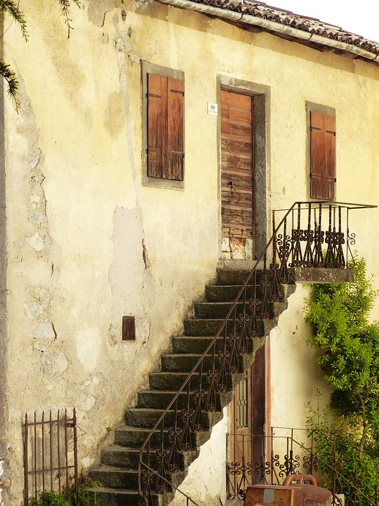 Stairs, Gradually, External Staircase, Facade, Home