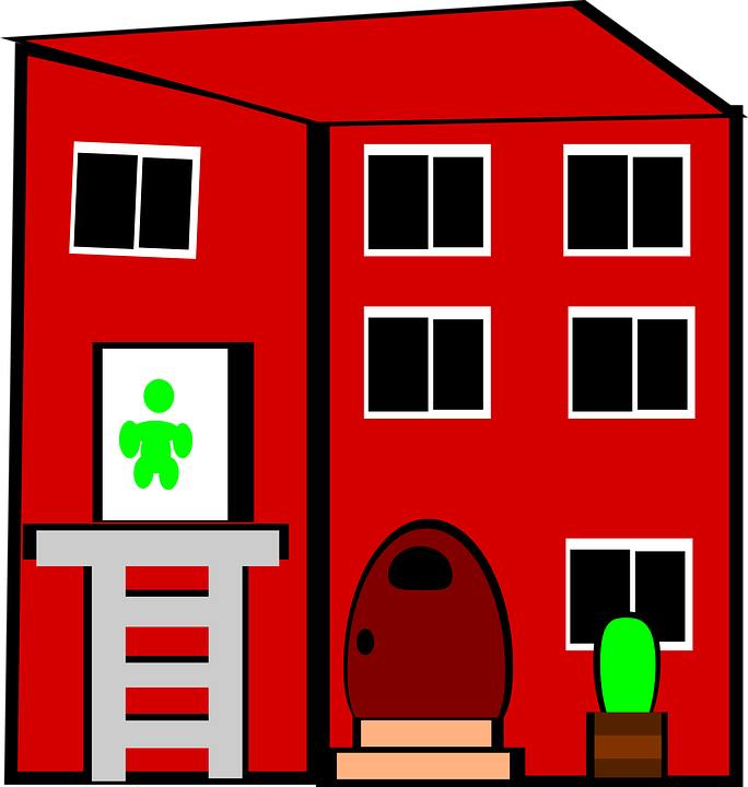 Flat, Apartment, House, Home, Red Home, Red House