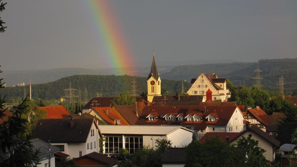 Gurtweil, Black Forest, Rainbow, Home