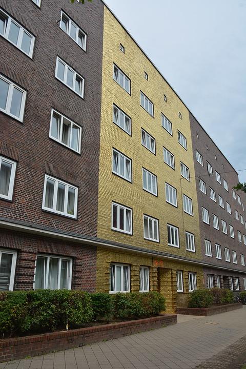 Architecture, Home, Gilded, Hamburg, Veddel