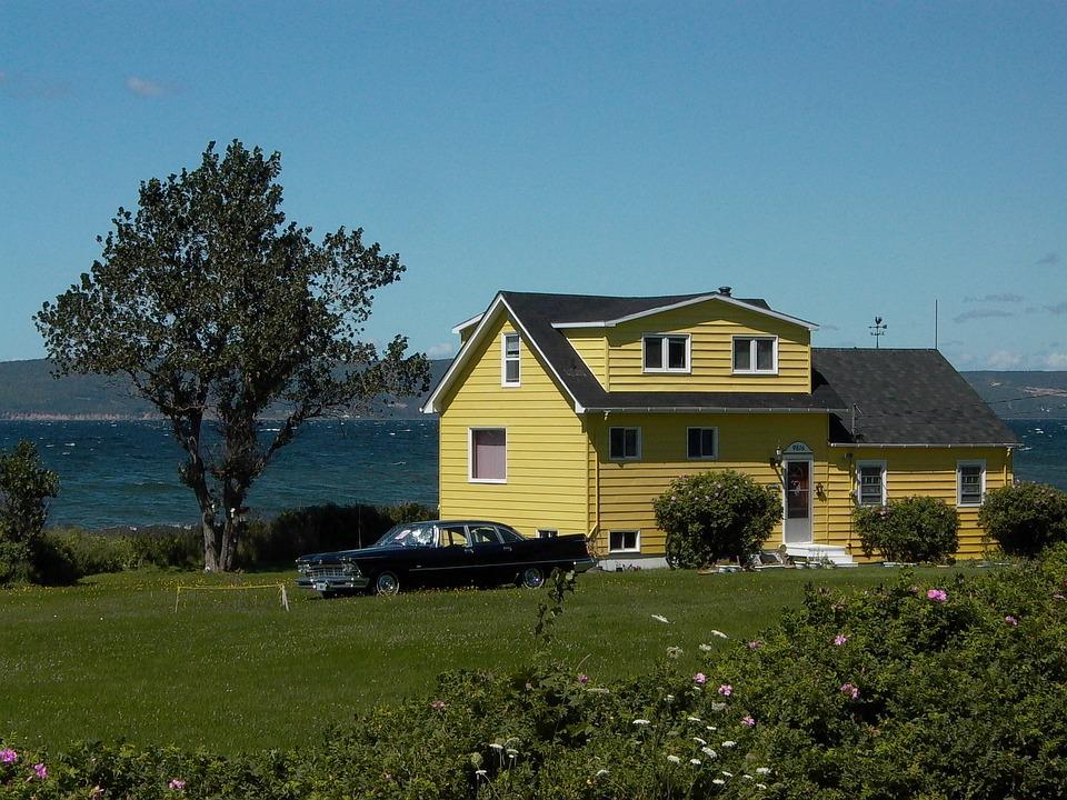 Home, Dream Home, Haus Am See, Building, Lake, Canada