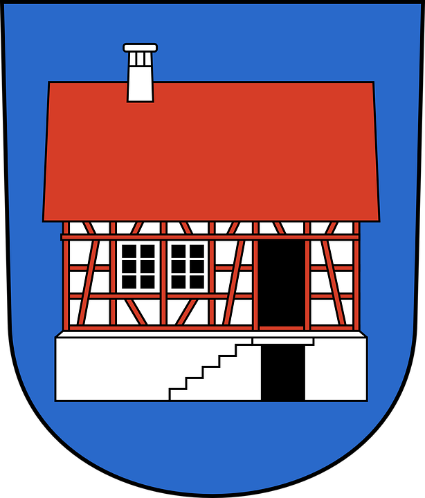 Building, House, Home, Coat, Arms, Chimney, Property