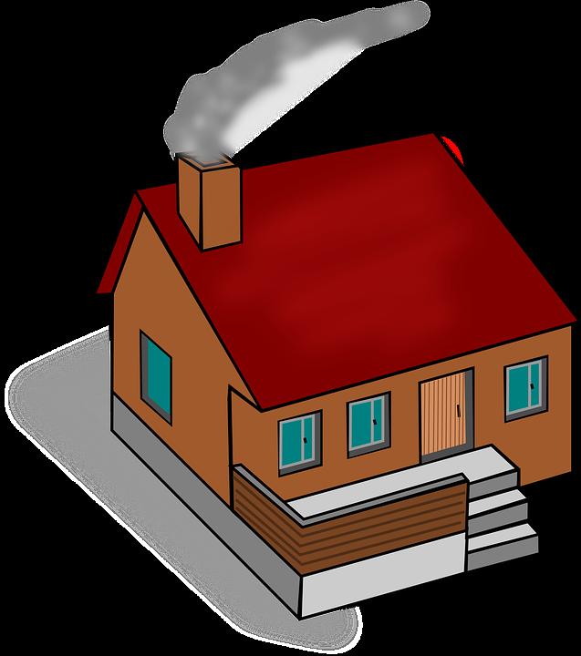 House, Home, Chimney, Smoke, Heating