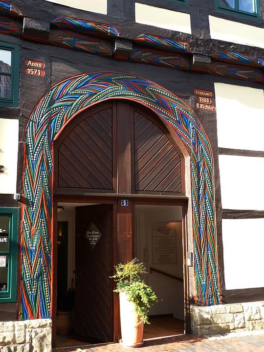 Rinteln, Home, Door, Goal, Old, Input, Wooden Door