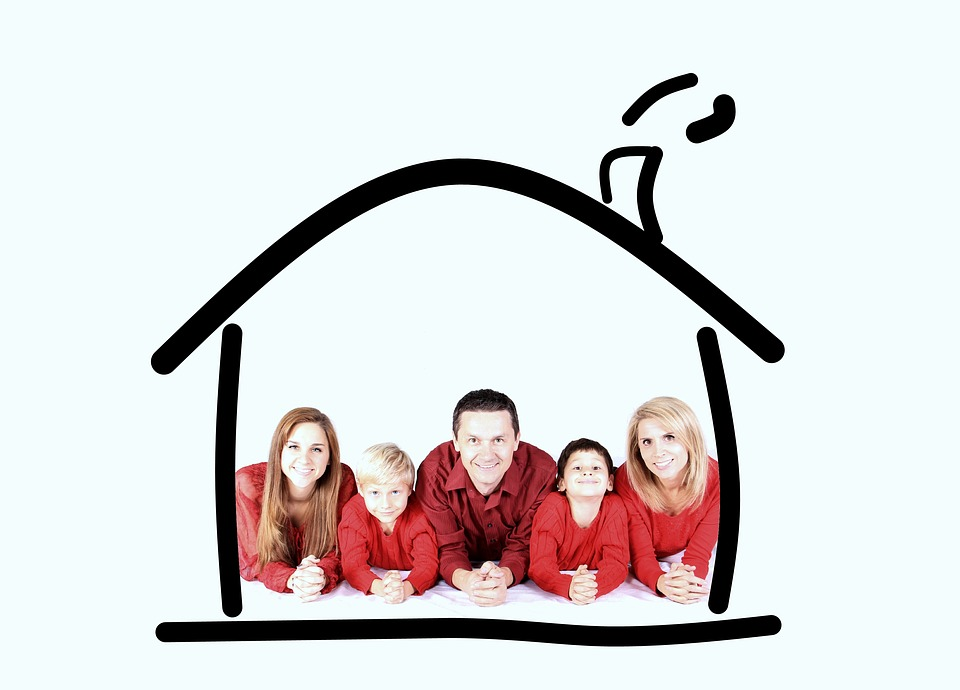 Family, House, Protection, Insurance, Home, Fun, Smile