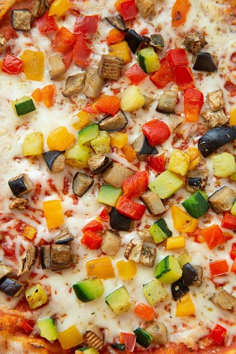 Pizza, Veggies, Gluten Free, Plate, Home Made