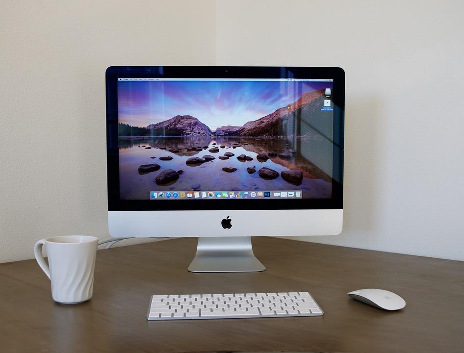 Imac, Desktop Computer, Home Office, White, Apple