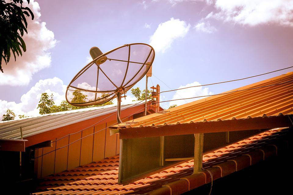 Satellite Dish, Roof, Television, Antenna, Tv, Home