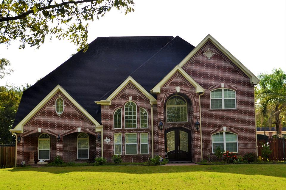 Attractive Brick House, Houston, Texas, Lawn, Paved, Luxury, Home