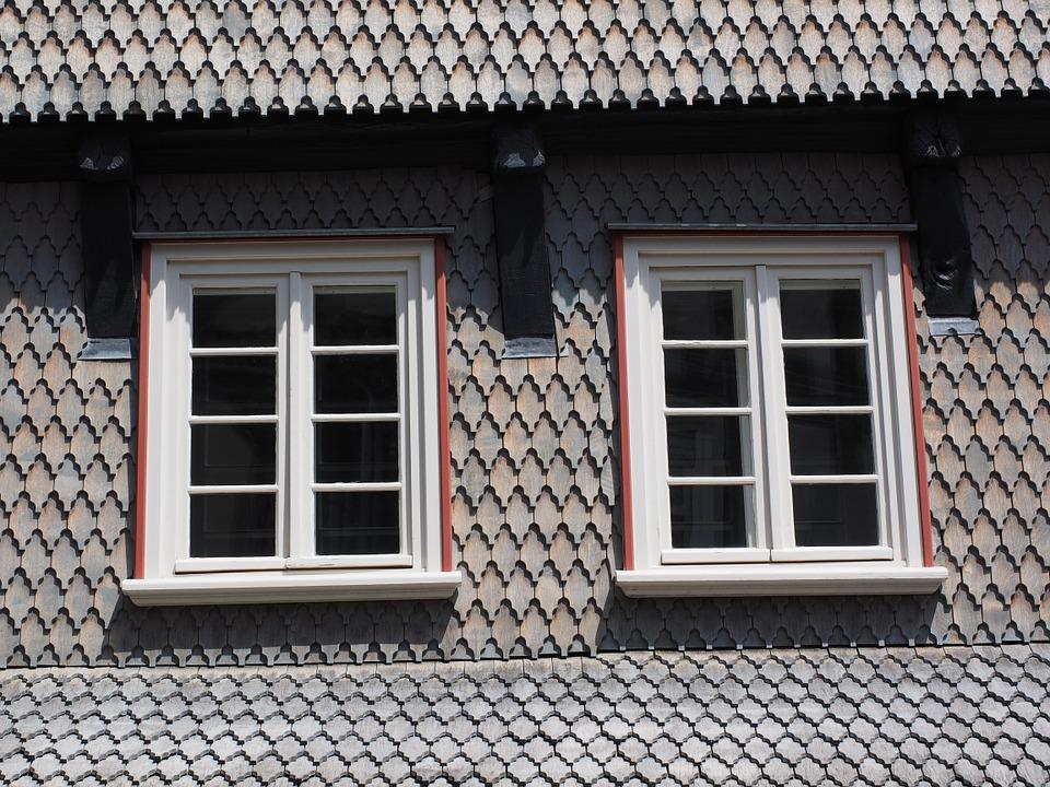 Window, Shingle, Wood Shingles, Facade Cladding, Home