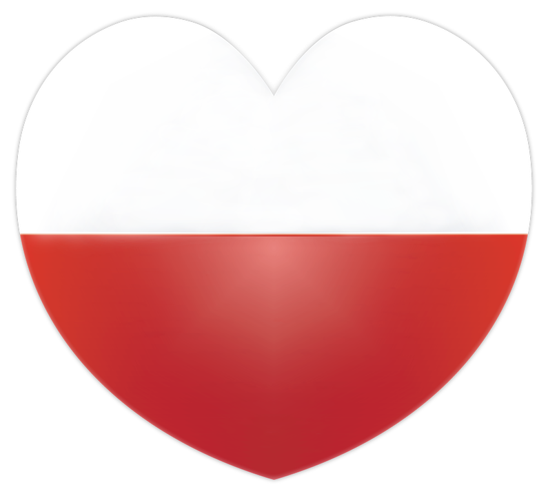 Heart, Flag, Poland, Polish Flag, Patriotism, Homeland