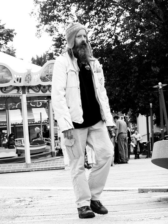 Homeless, Man, Black And White, Amsterdam
