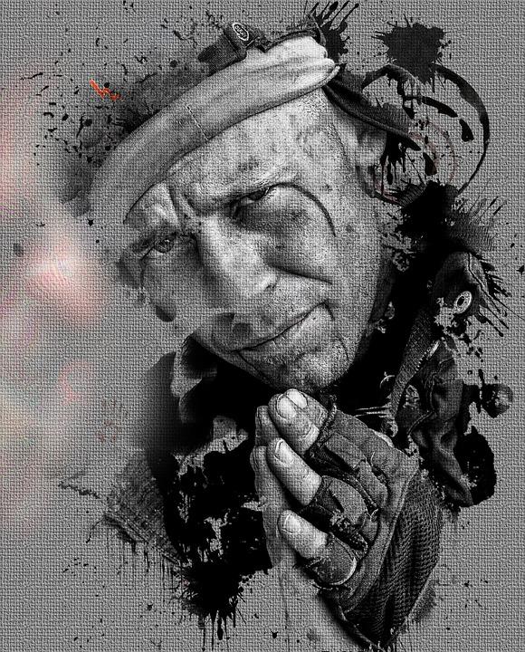 Portrait, Human, Homeless, Man, Male, Road, Person