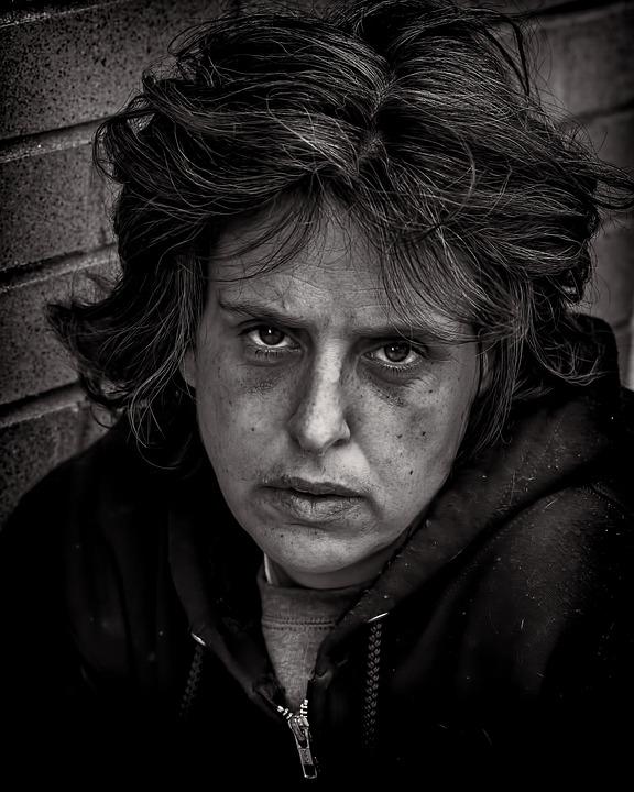 Womman, Portrait, Homeless, Poverty, Female, Poor