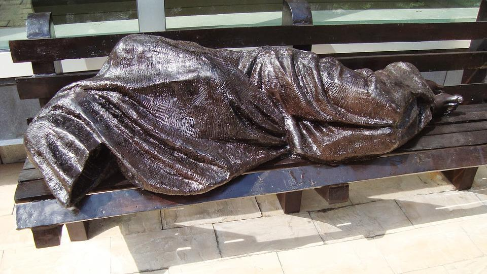 Homeless, Statue, City Streets