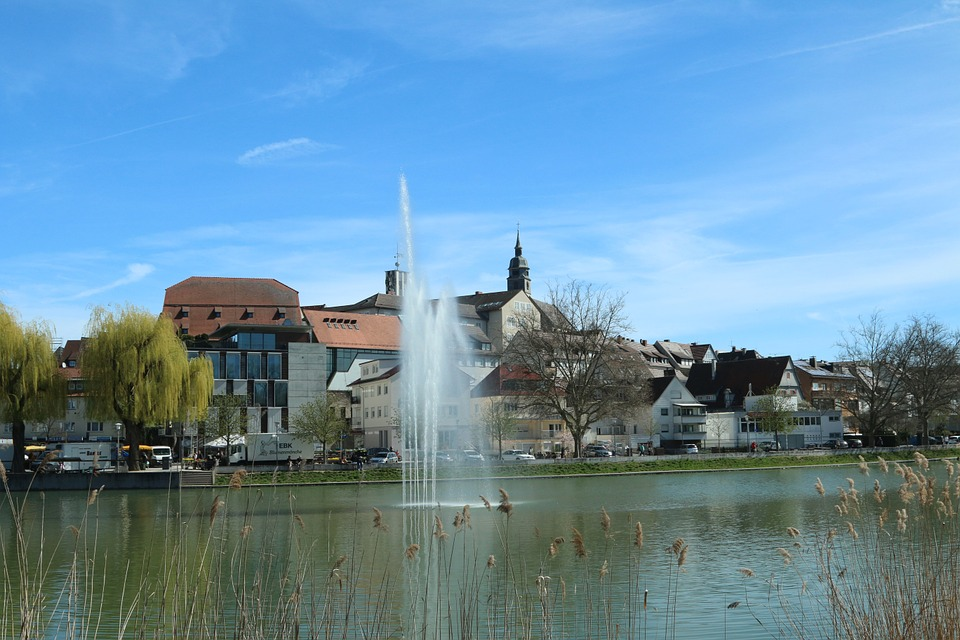 Böblingen, City, Lake, Homes, Church, City View, Town