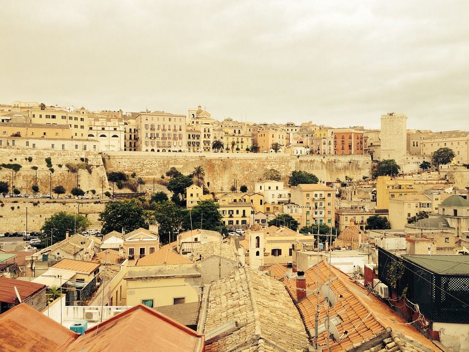 Cagliari, Roofs, Old Town, Sardinia, Outlook, Homes