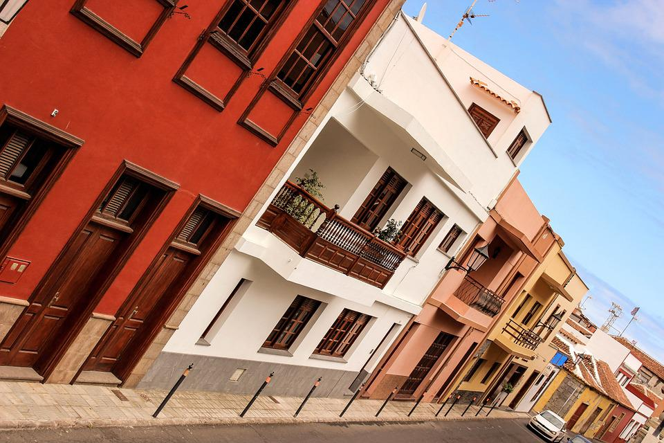 Homes, Road, Building, Old Town, Spain