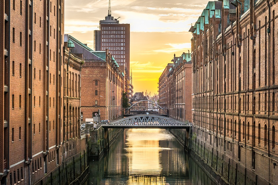 Hamburg, Speicherstadt, Water, Homes, Germany