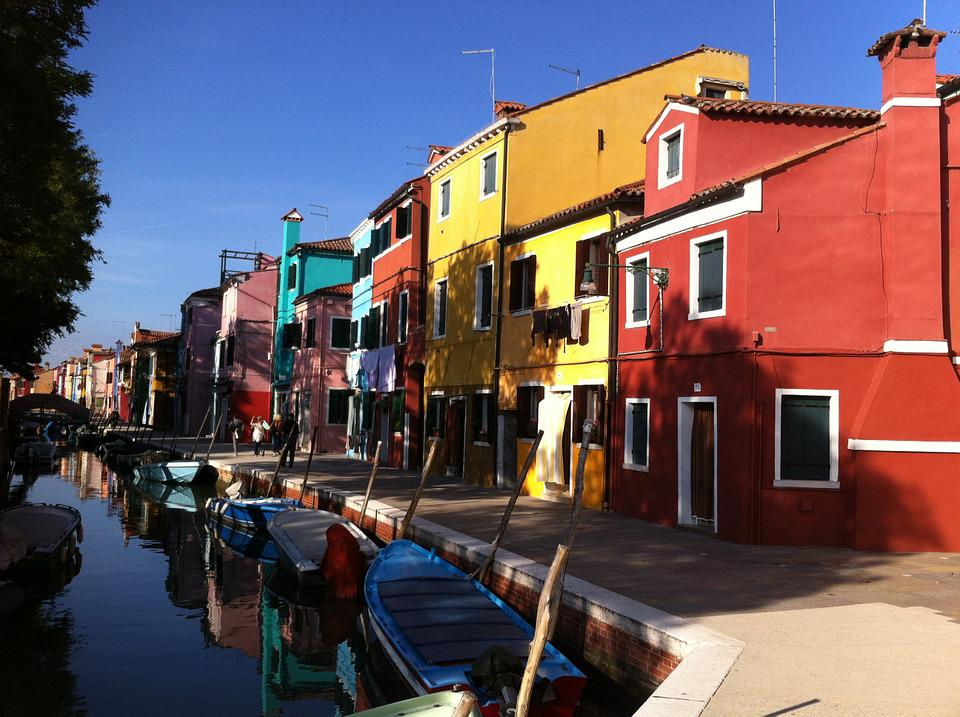 Burano, Italy, Veneto, Homes, Colorful, Channel