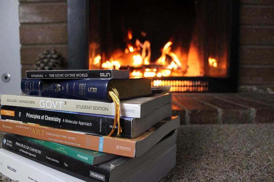 Free photo Homework Fireplace Bible Flame Study Heat Hymns ...