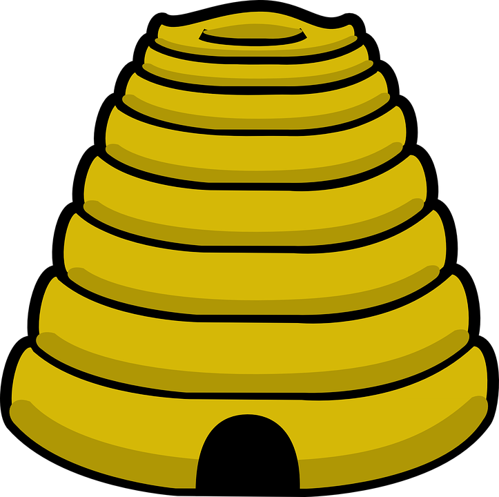 Beehive, Yellow, Cone, Honey, Bee, Bug, Insect, Bumble