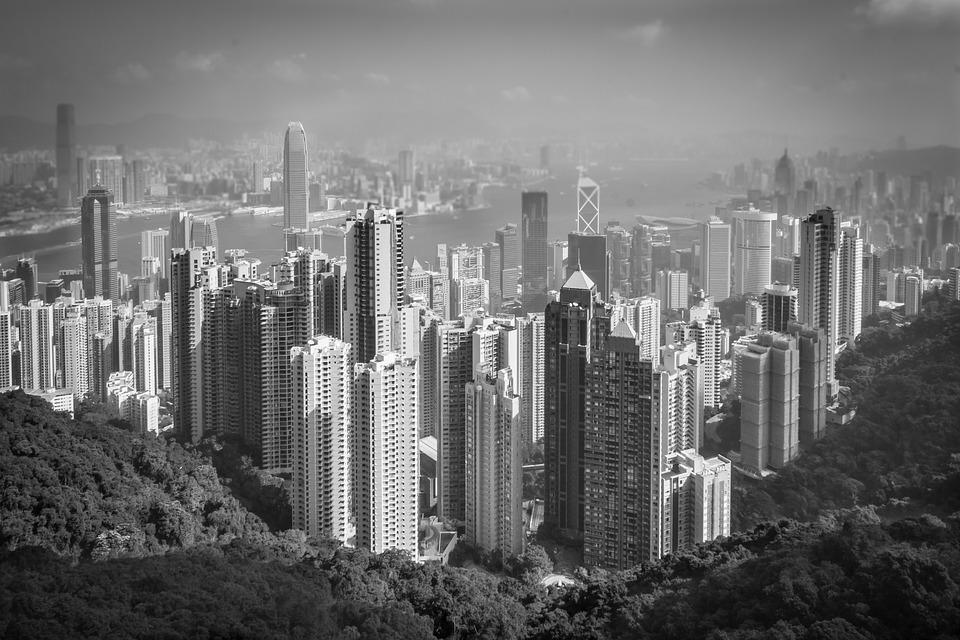 Hong kong the peak city asia skyline architecture