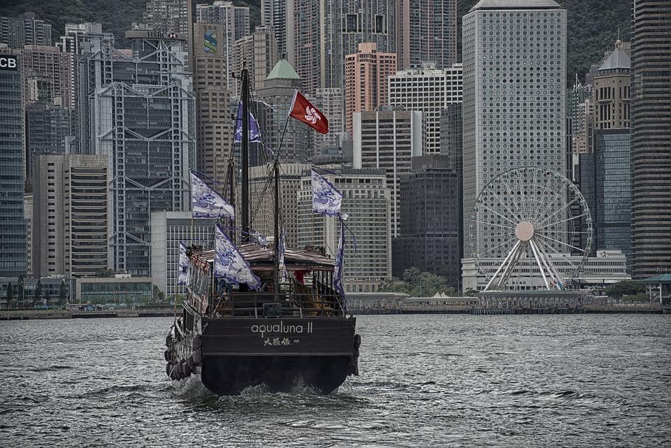 Hong Kong, Ship, Transport, Skyline, Skyscraper