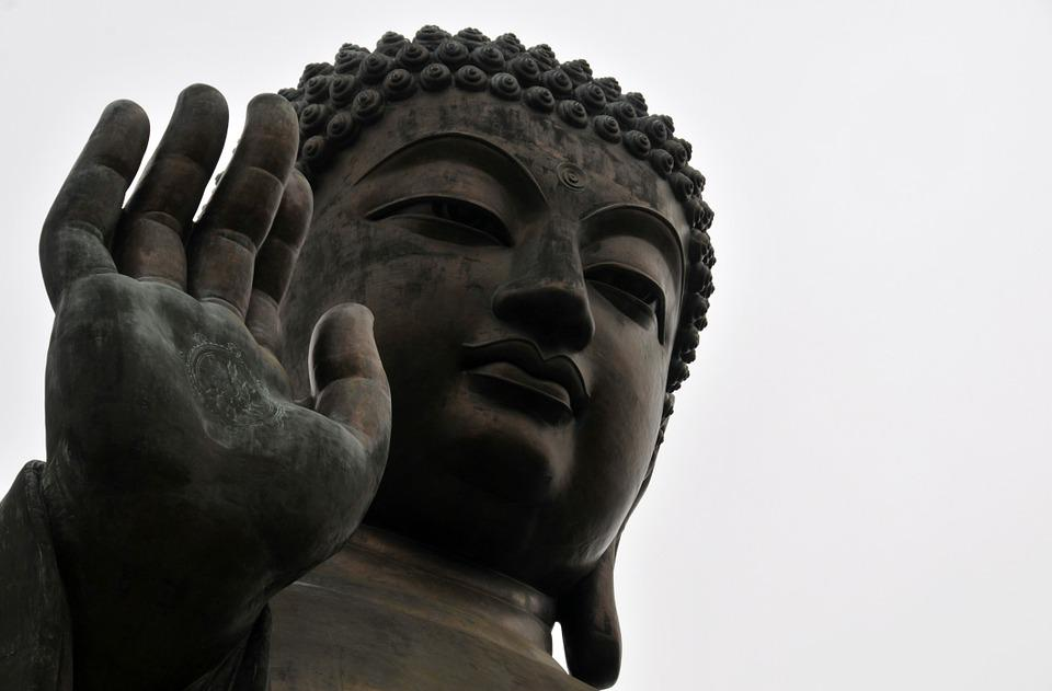 Buddha, China, Hongkong, Peace, Lotus
