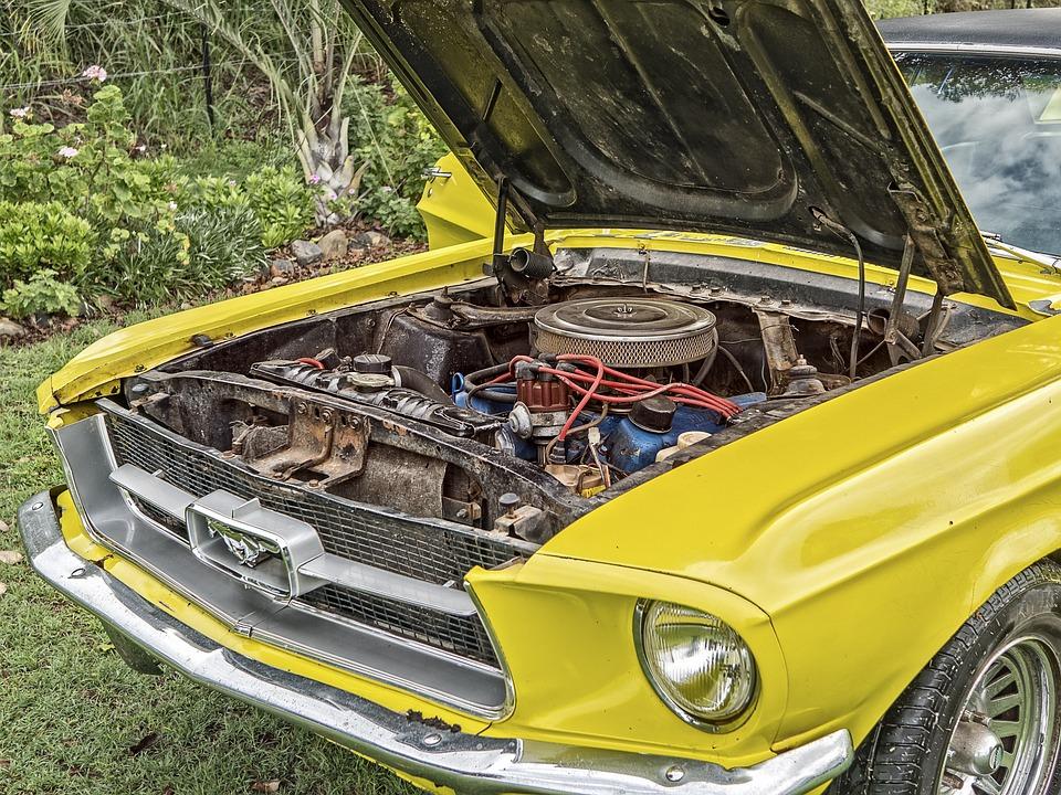 Ford, Mustang, Engine, Hood, Bonnet, Auto, Car, Design