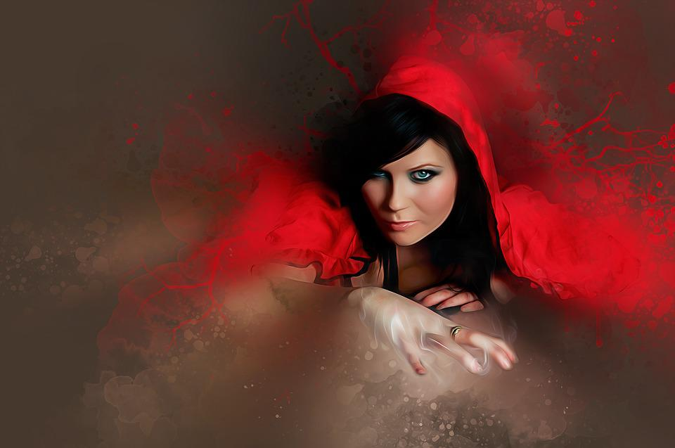 Woman, Girl, Female, Young, Beauty, Red, Hood, Portrait