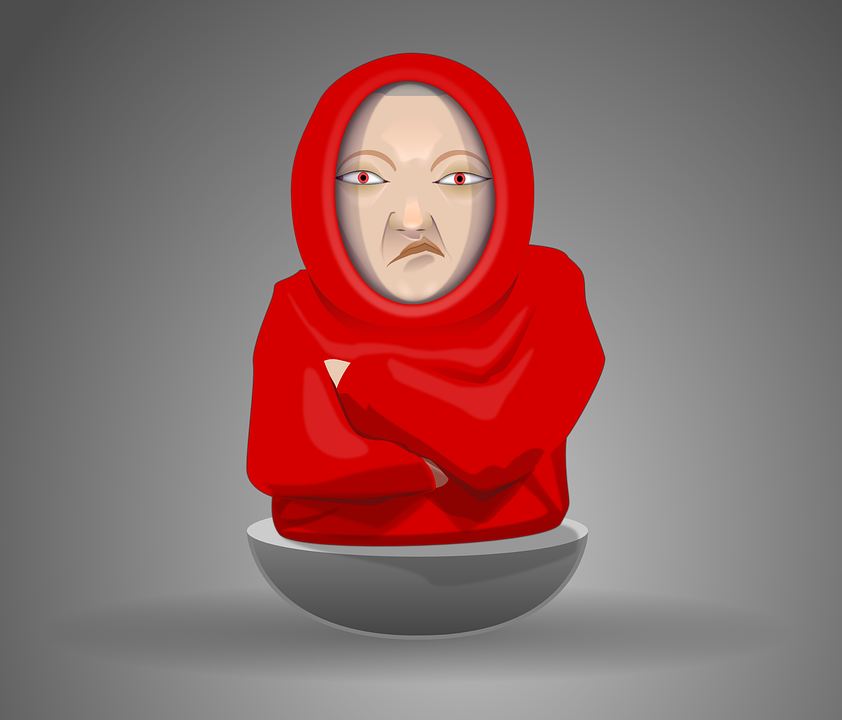 Monk, Friar, Hooded, Puppet, Offended, Insulted, Sulky