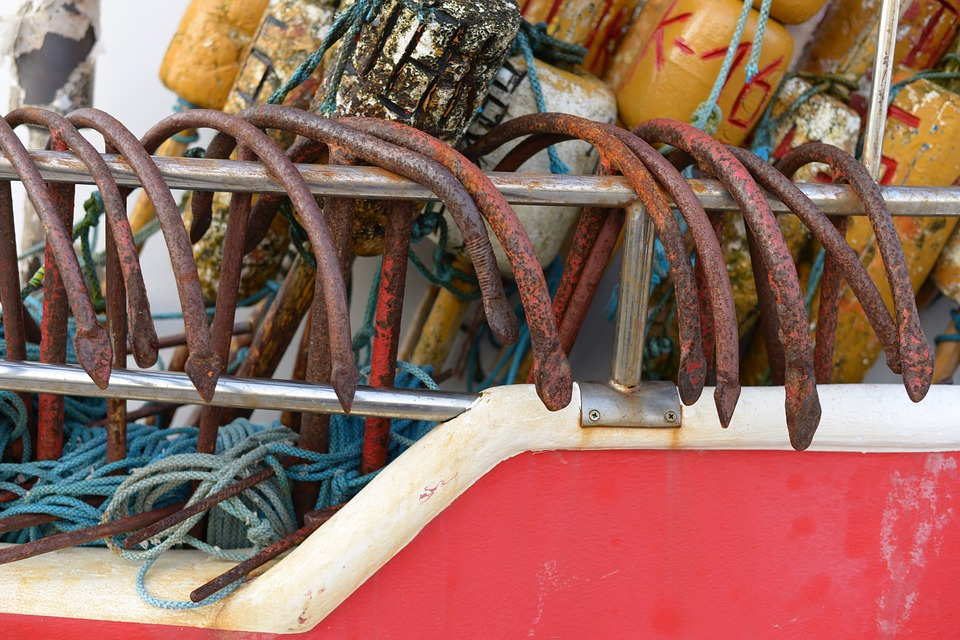 Cutter, The Fisherman, Hook, Rope, Boat