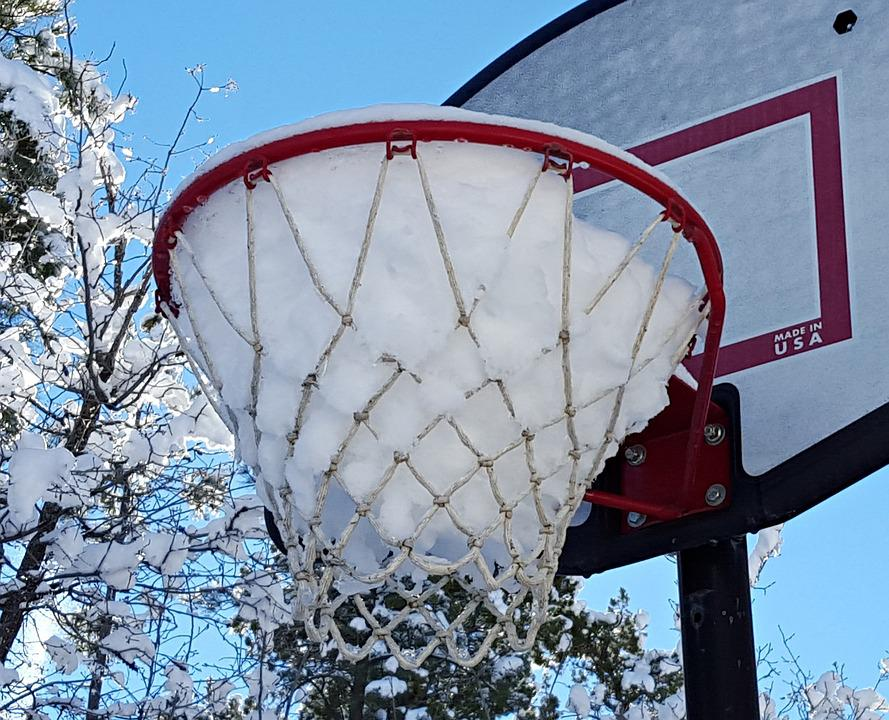Snow, Hoops, Winter, December, Cold, Cool, Basketball