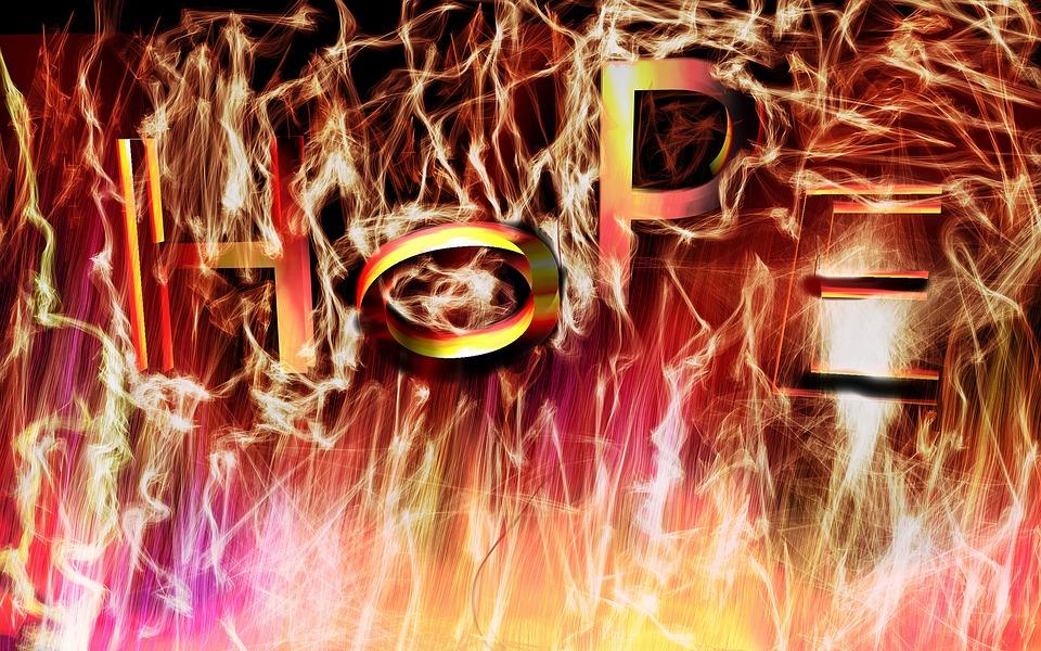Fire, Hope, Burnout, Background, Burn, Brightness, Glow