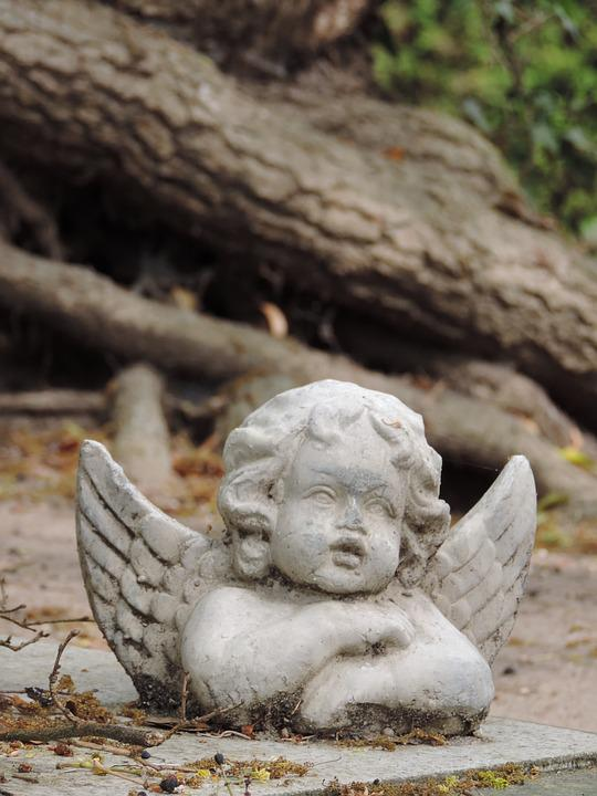 Angel, Fig, Cemetery, Mourning, Hope