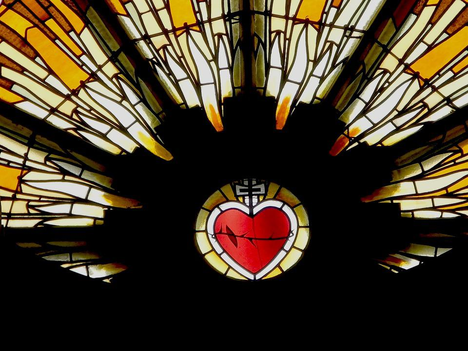 Church Window, Love Heart, Hope