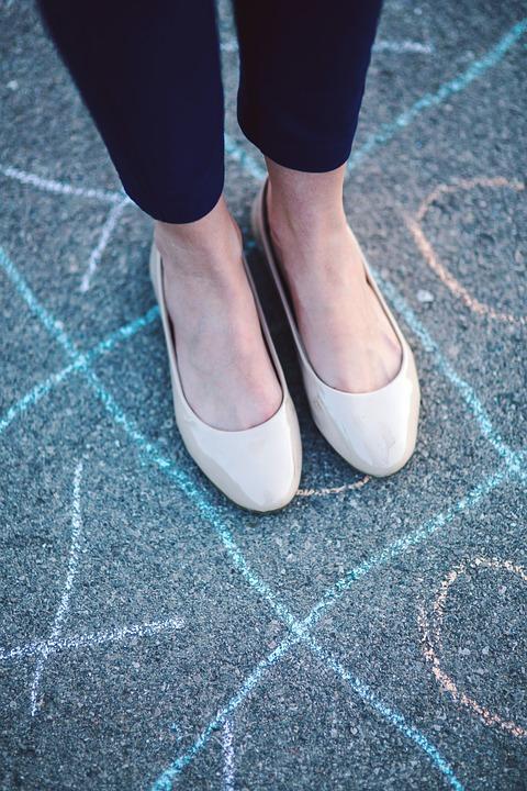 Legs, Foot, Feet, Shoes, Girl, Woman, Hopscotch