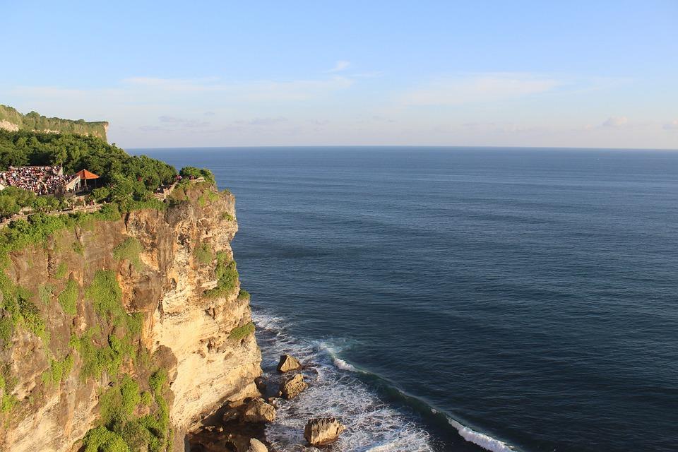 Horizon, Cliff, Ocean