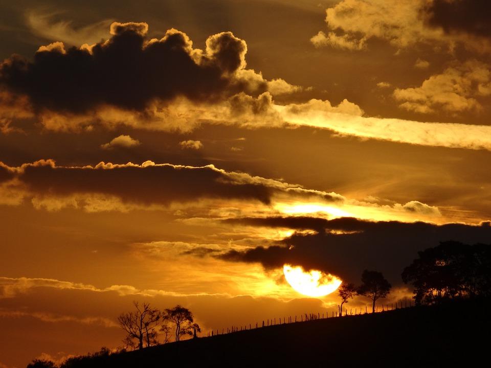 Sunset, Horizon, Cloud, Landscape