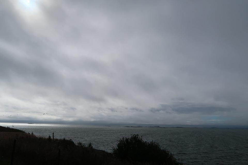 Suomenlinna, Sea, Clouds, Sky, Horizon, The Baltic Sea