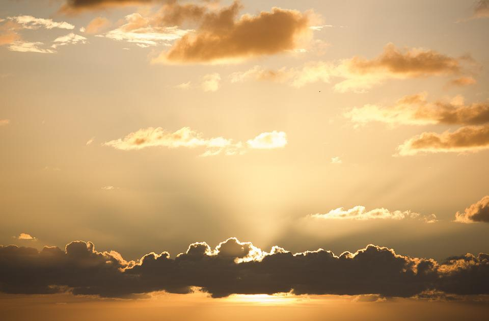 Sunset, Sky, Horizon, Sun, Clouds, Evening, Sky Orange