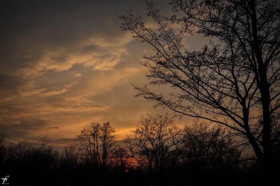 Spring, Evening, Nature, Landscape, Sunset, Horizon