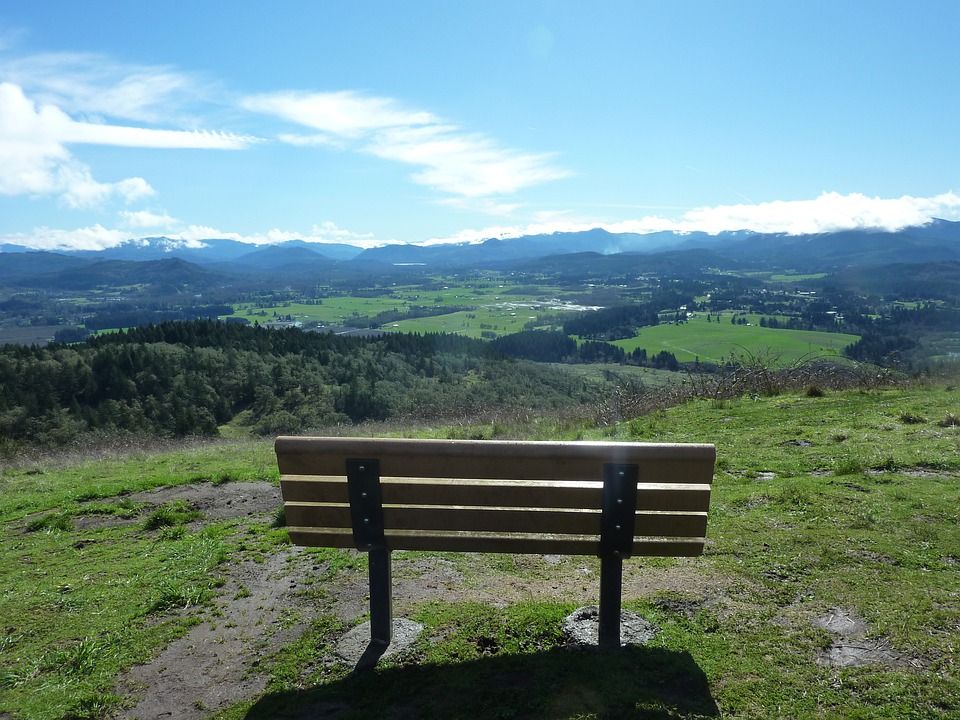 Pisgah, View, Bench, Horizon, Scenery, Sky, Peace