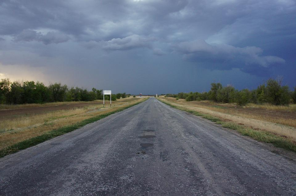 Road, Horizon, Russia, Dark Sky